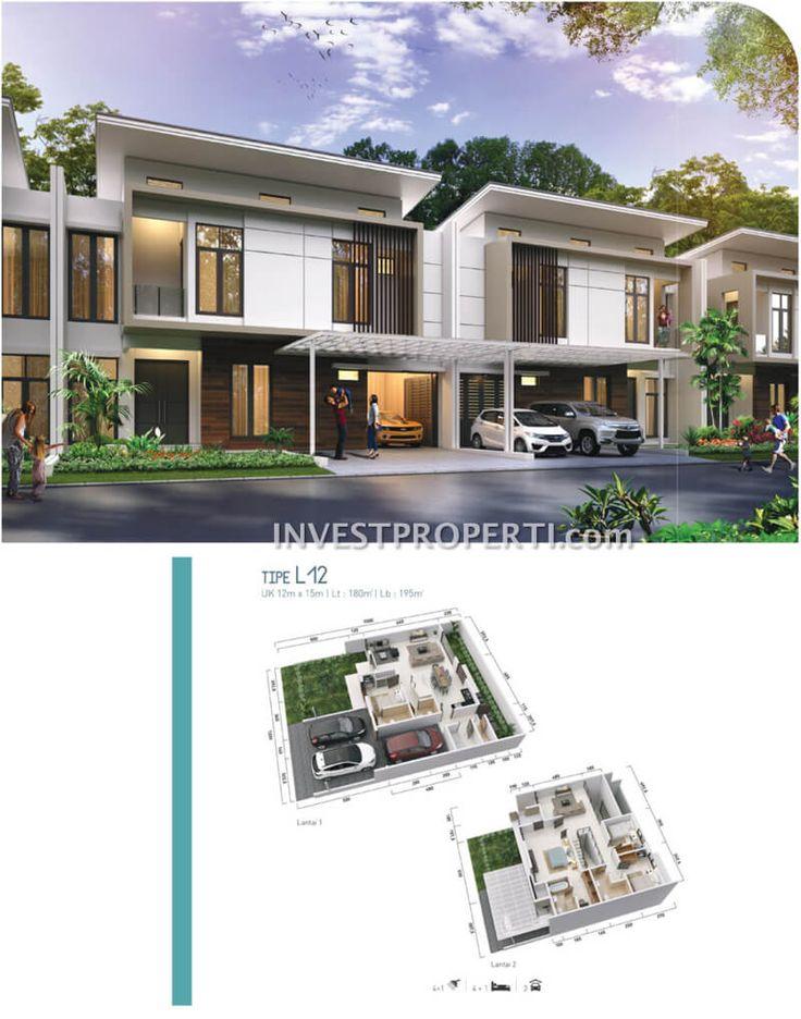 Rumah cluster Shinano Tipe L12 Jakarta Garden City kawasan River Garden #clustershinano #jakartagardencity
