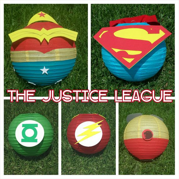 Justice League Superhero Inspired Paper Lantern by adingkaki, $12.00