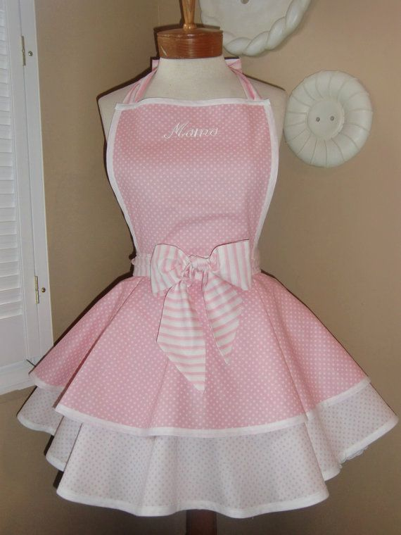 Personalized Polka Dot Womans Retro Apron With by mamamadison, $52.50