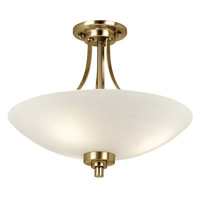 Welles 3 arm satin nickel finish semi flush ceiling light by endon lighting discover our ranges of tiffany lamp art deco and traditional lighting