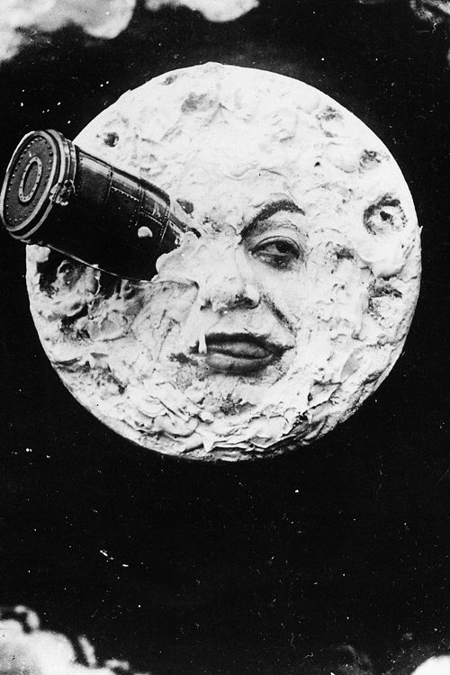 From the 1902 French science fiction silent film A Trip to the Moon directed by Georges Melies