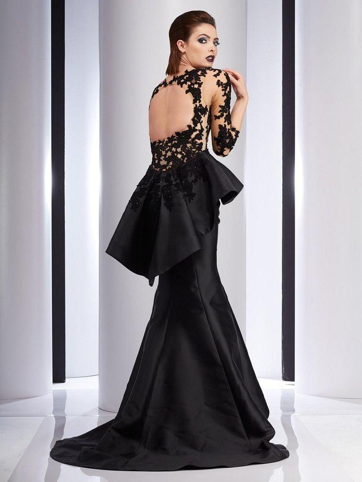 Clarisse Couture 4701 Pleated Peplum Evening Dress | MadameBridal.com #clarisse #promdresses #prom #prom2018