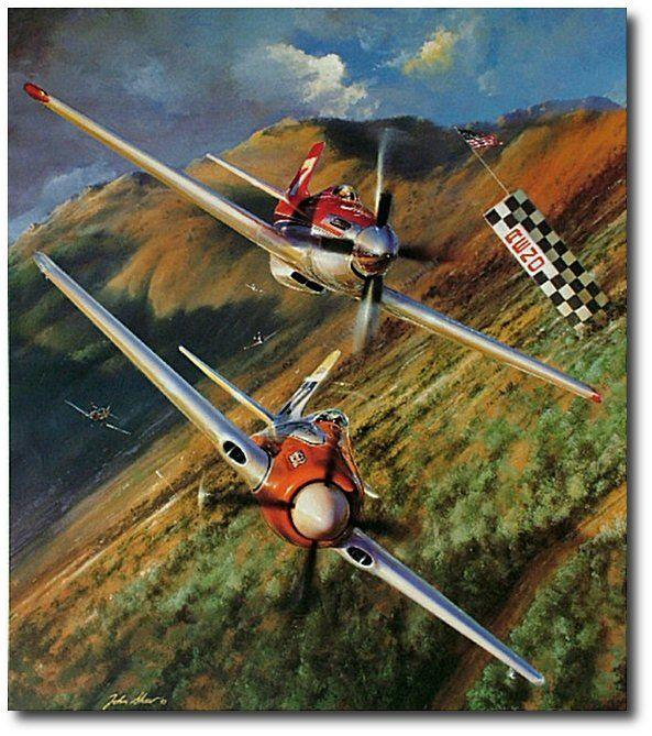Aviation Art Hangar The Unlimiteds By John Shaw Reno