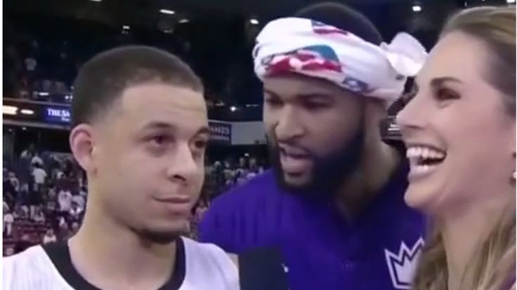 DeMarcus Cousins takes a not-so-subtle jab at George Karl for slighting Seth Curry