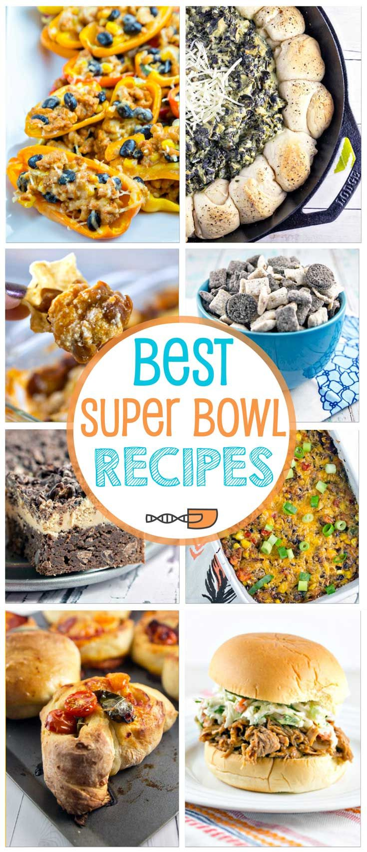 Dips, hot finger food appetizers, and desserts - here are the best Super Bowl recipes for a perfect party! via @bnsnbrnrbakery