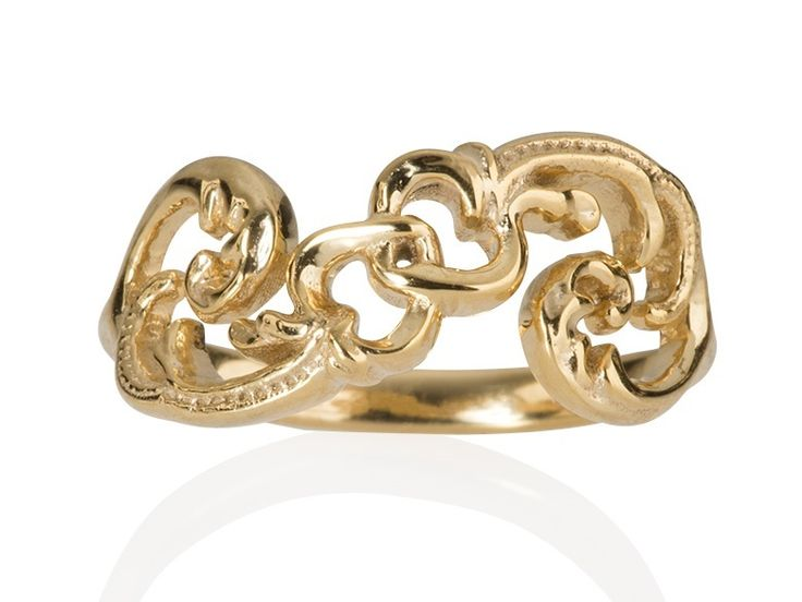 Romantic Art Nouveau Jewelry nature and folklore inspired two interconnected hearts infinity lovering. #Art Nouveau #romantic ring#hearts#ring#bohemianring#3djewelry