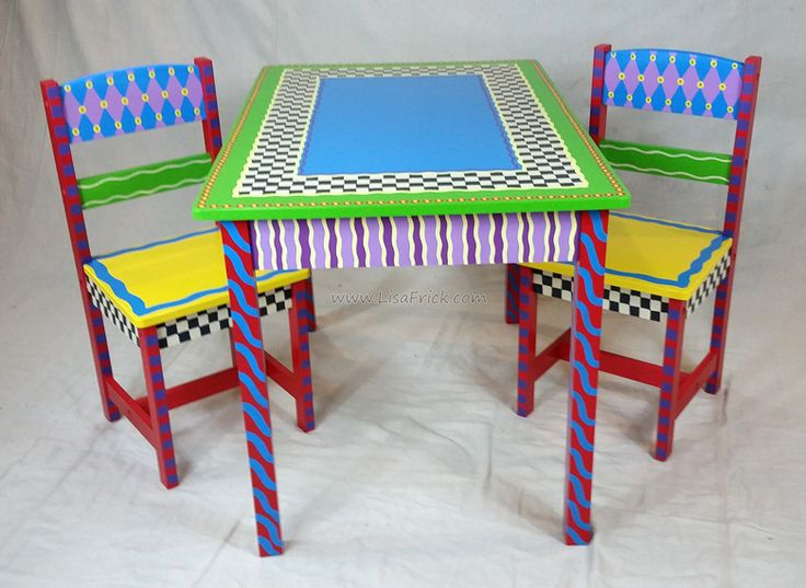 Hand painted Alice in Wonderland themed Child s table and chairs set   Custom orders welcome. 243 best Lisa s Creations images on Pinterest   Hand painted