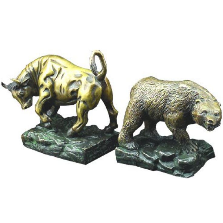 Wild Bull and Bear Bookends - R19S
