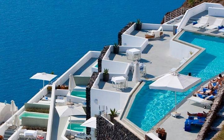 17 best santorini hotels. Add Dana Villas to the list. Grace Hotel in Imerovigli, Santorini.