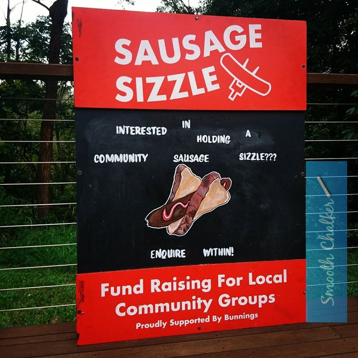 New sausage sizzle chalkboard A-frame for bunnings...