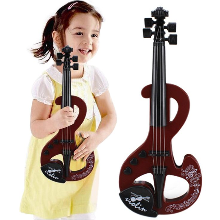 Kids Toy Violin Children Practice Simulation Violin Fiddle Bow Electronic Violin Music Instrument Early Education Toy