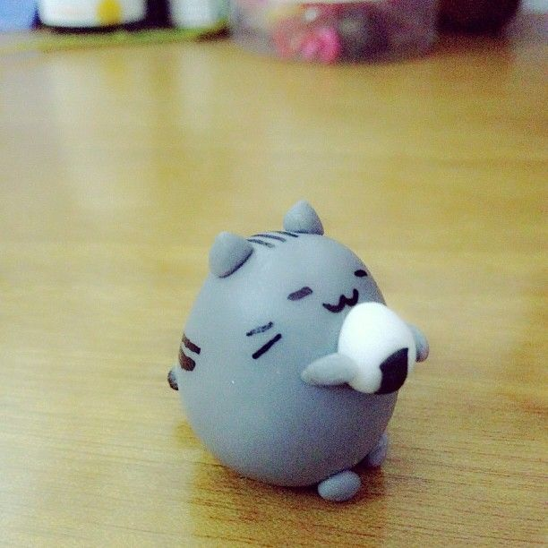 Pusheen with Origini (Polymer Clay) by duongnonsense.deviantart.com on @deviantART
