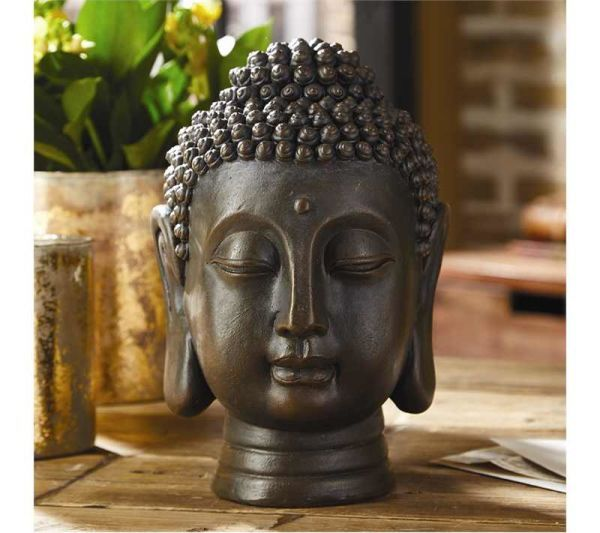 Buddha Head: Finely detailed and elegantly designed this wonderful Buddha head will add a air of distinction to your living space. Fashioned after an ancient Tathagata Buddha in a meditation state, you can't help but be calmed every time you gaze upon it.