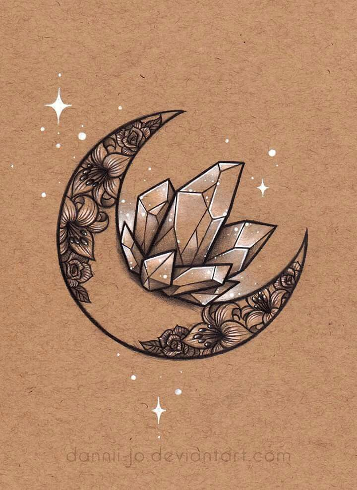 Tattoo of crystals More – #crystals #de #more #tattoo #tatuaje
