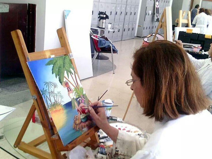 Pintura al oleo en nuestro @ClubEcopetrol