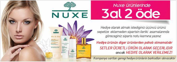 Nuxe Paris   Nuxe Ürünleri %20 indirim ve hediyeler   Dermoeczanem.com şimdi tüm Nuxe ürünleri 3 al 2 öde