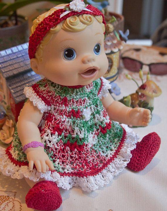 25 best crochet for baby alive dolls images on Pinterest Crochet dresses, C...