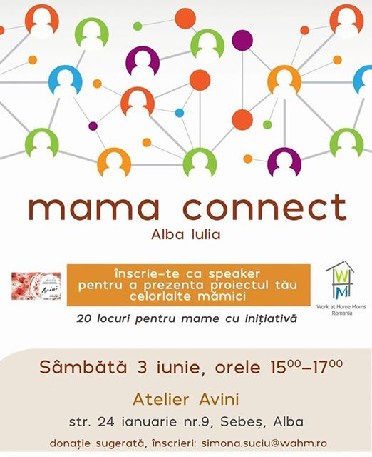 Ieşim din mediul virtual şi vă aşteptăm la o nouă întâlnire Mama connect, să ne cunoaştem, să schimbăm idei şi experienţe. Donație liberă care se folosește pentru viitoare evenimente și proiecte.