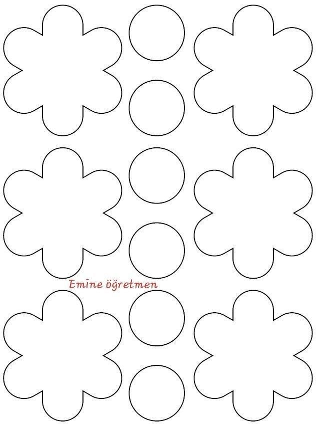 Pin By Baskan On 23 Nisan Pano Flower Templates Printable Paper Flower Printable Templates Kids Crafts Free