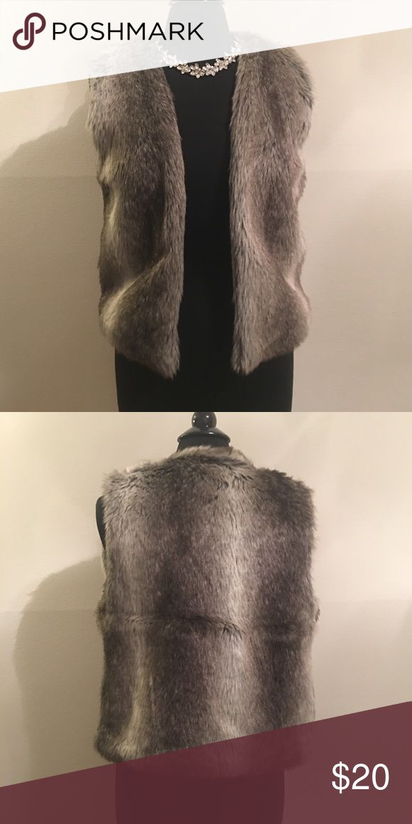 "💕HP 1-19!💕 ""Cute & Casual"" Faux Fur Vest Super cute. Never worn. The necklace is available too.  Shell: 70% Acrylic; 30% Polyester Lining: 100% Polyester  Dry clean only. Made in China 🇨🇳 delia's Jackets & Coats Vests"
