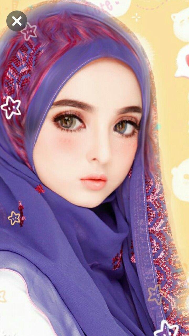 Jane'sAnimeHübsch Lukisan wajah, Gadis animasi, Seni islamis