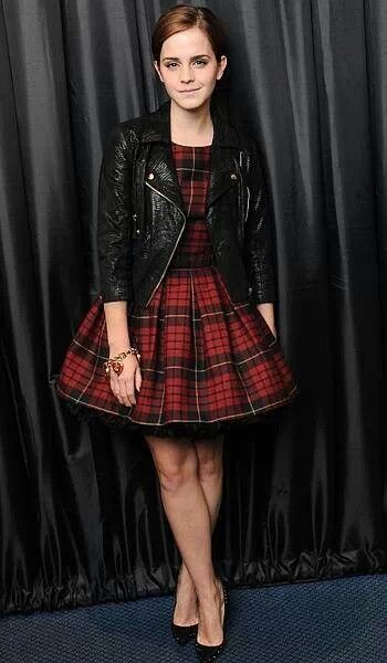 Plaid paired with moto! Love these too trends for fall 2013! Check out more #styletips at hauteandstyled.com