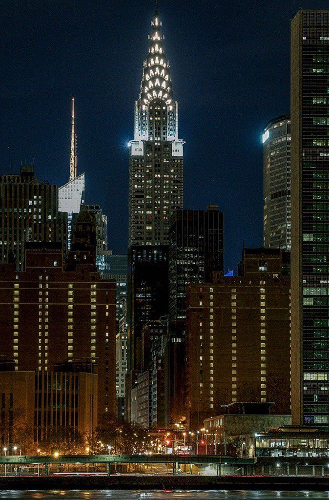 The Glorious Art Deco Chrysler Building In The Sky Above Manhattan