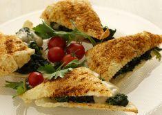 Sfogliate agli spinaci e funghi
