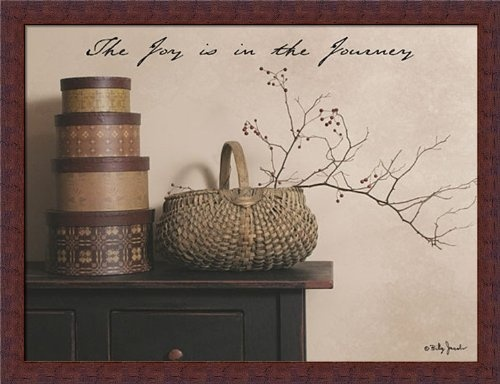 the joy is the journey by billy jacobs primitive country still life 26x20 framed art print