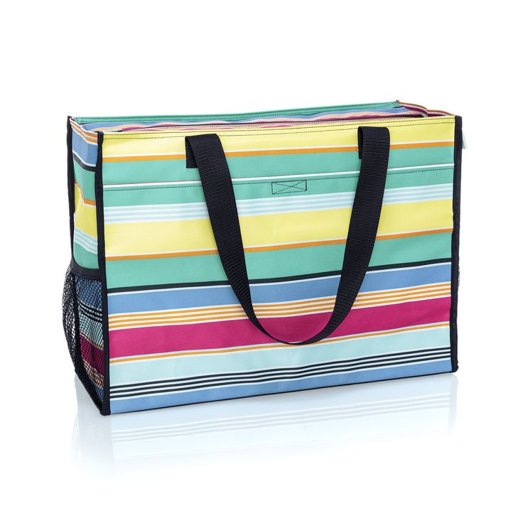 Thirty-one  /  Deluxe Organizing Utility Tote in Patio Pop  /  $48.00  /  Item Code: 8800  /  https://www.mythirtyone.com/1872596/product/8800