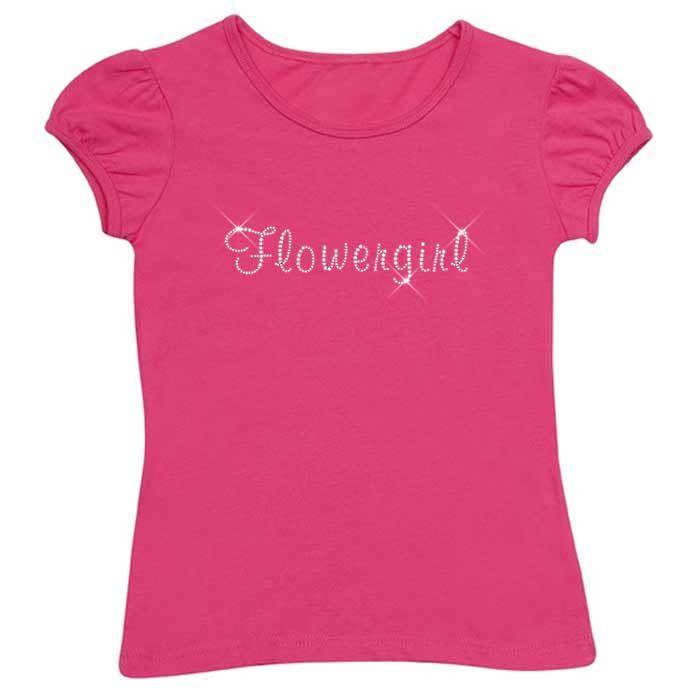 Flowergirl Diamante TShirt - Child