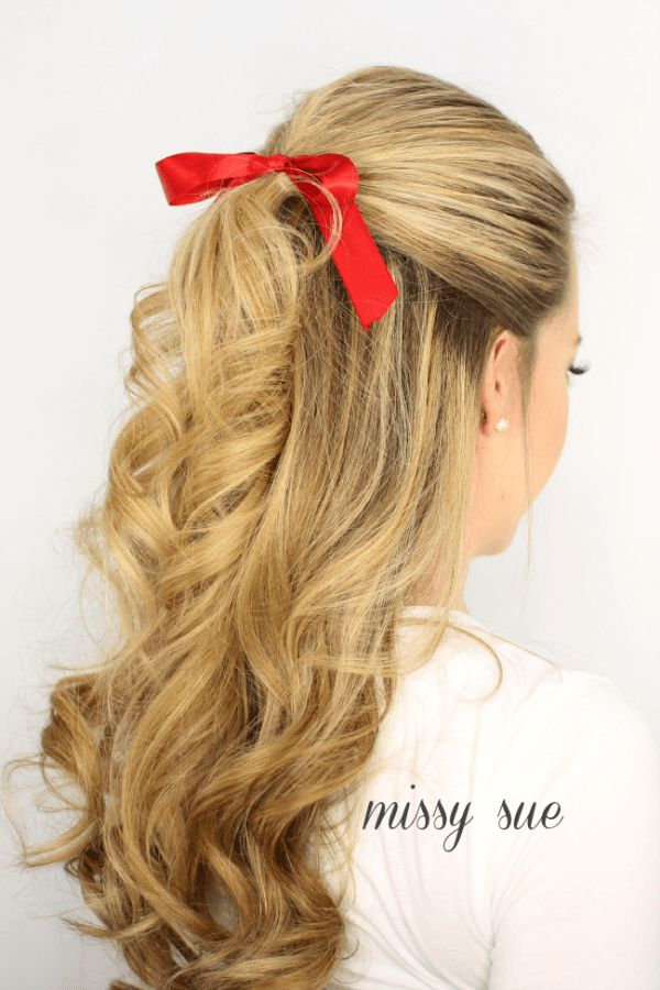 hair ribbon styles 1000 ideas about half updo hairstyles on half 5738