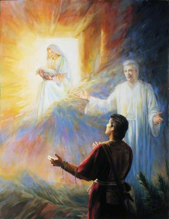 Book of Mormon. Nephi sees the birth of Jesus in vision.