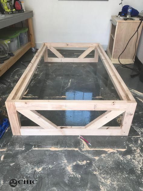 Diy Modern Platform Bed Frame For Less Than 50 In Lumber Free