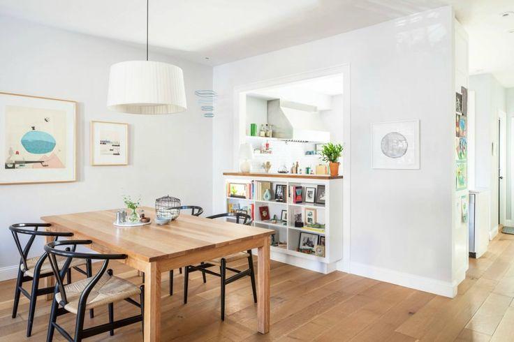 cuisine semi ouverte passe plat et bibliotheque deco. Black Bedroom Furniture Sets. Home Design Ideas
