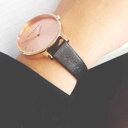 Big Dial Black and Rose Gold Personalised - from Olivia Burton UK