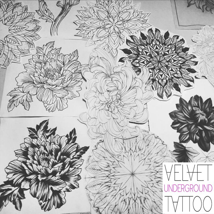 Leafy Floral Mandala Tattoo Designs by Roxy Velvet