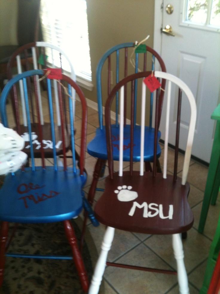 Chairs Repainted For MSU U0026 Ole Miss