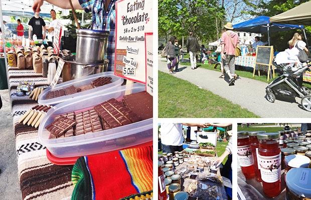 Feast On It! visits Sorauren Park Farmers' Market. Then we make Vegan Chocolate Drizzled Rose Syrup Shortbread.