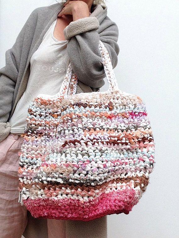 Fabric strip crochet purses — pic 6