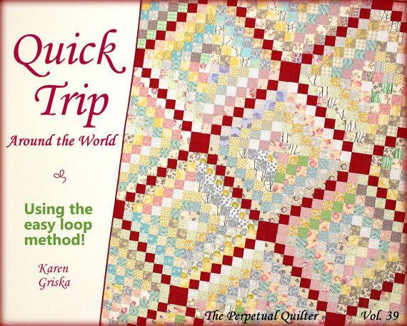 Quilt Pattern, Trip Around the World Quilt, Easy Quilt Pattern, Twin Quilt, Instant Download Quilt Pattern $5