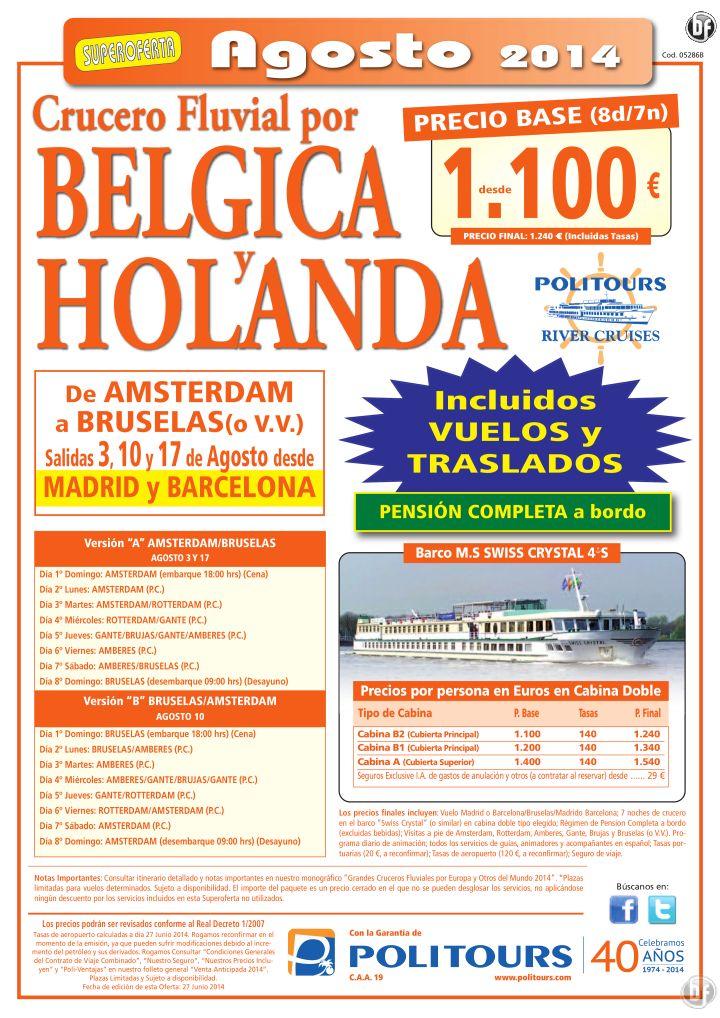 Crucero fluvial por BELGICA y Holanda, sal. 3, 10 y 17 de Agosto (8d/7n) precio final desde 1.240€ ultimo minuto - http://zocotours.com/crucero-fluvial-por-belgica-y-holanda-sal-3-10-y-17-de-agosto-8d7n-precio-final-desde-1-240e-ultimo-minuto-5/