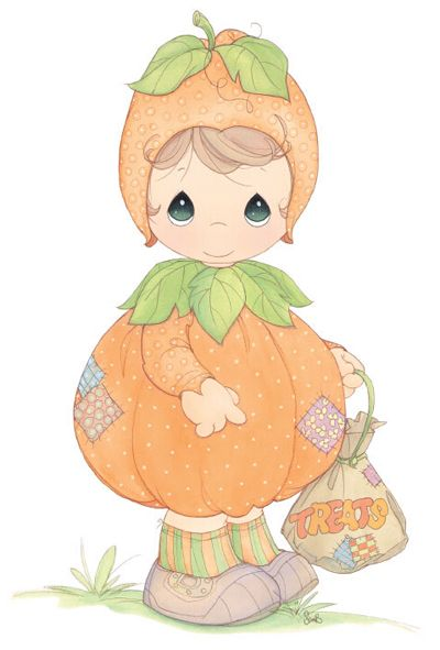 precious moments images clipart | Precious Moments Autumn Clip Art  Coloring Pages