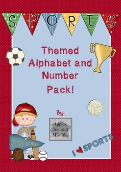 Sports-Themed ABC and 123 Cards!