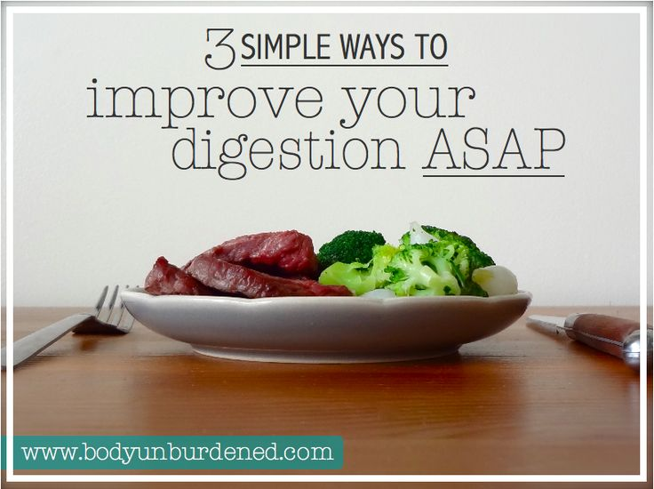 Digestion plays such a major role in your overall health and well-being, so it needs to be running in tip-top shape. These 3 simple ways to improve your digestion can be implemented ASAP - even if your kitchen timer is going off right now.