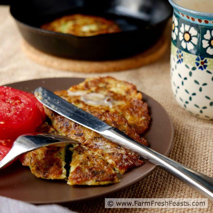 Zucchini Pancakes for Breakfast, Lunch or Dinner www.farmfreshfeasts.com