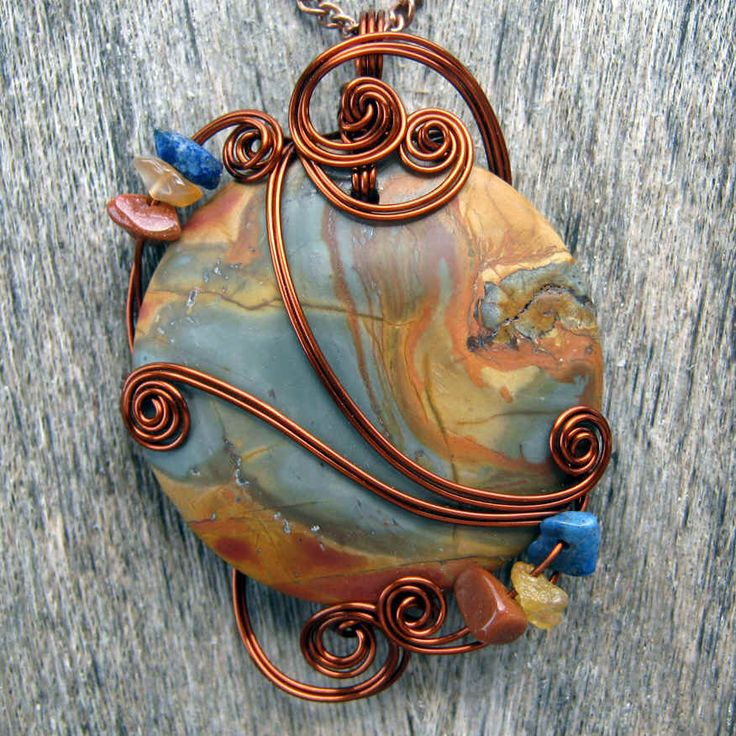 15 best Wire Wrapping images on Pinterest | Wire jewelry, Jewelry ...