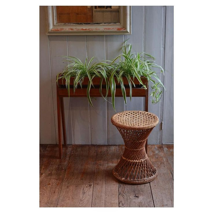 Beautiful Mid-Century Wooden Planter For Sale 35. - Vintage wicker stool 12. For more information dm us or send an  Email: interiorlewes@icloud.com   #chairs#instagram#love#insta#like#french#interiordesign#antiques#antique#vintage#midcentury#teak#danish#lewes#shop#theneedlemakerslewes#old#furniture#vintagemodern#moderninterior#interiordecor#deco  #instadecor#homedecor#interiordesigner#peacockchair