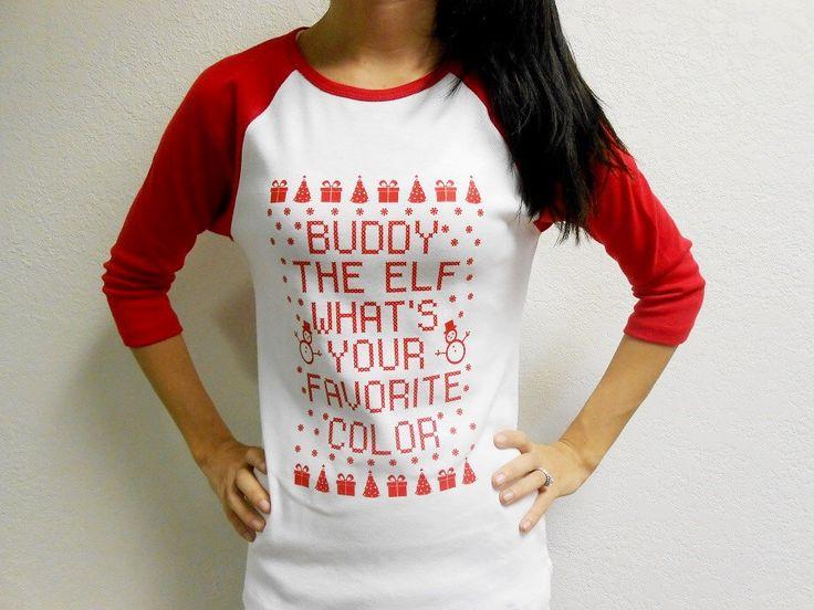 Buddy-The-Elf Shirt. Funny Christmas Shirt. Long Sleeve Christmas Shirt. ELF Shirt. Buddy The Elf T-Shirt. by StrongGirlClothing on Etsy https://www.etsy.com/ca/listing/169112375/buddy-the-elf-shirt-funny-christmas