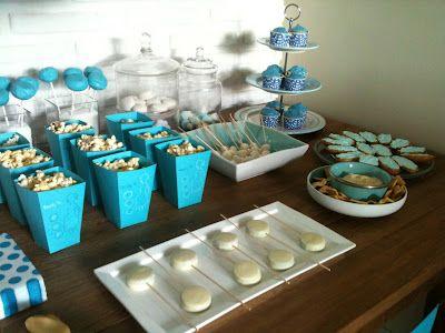 High Quality Baby Shower Niño Mesa Dulces Y Decoracion Azul Superfluo Imprescindible | Baby  Shower | Pinterest